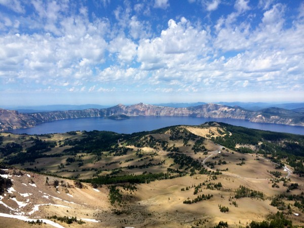 crater lake as seen from mt. scott