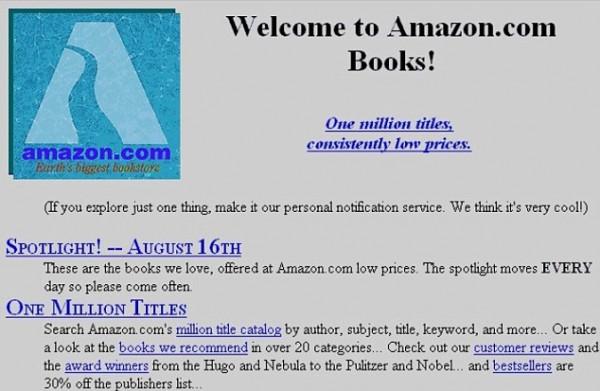 Amazon dot com's early days