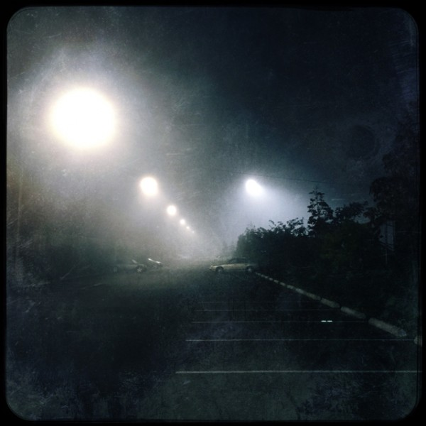 A somewhat distressed foggy photograph