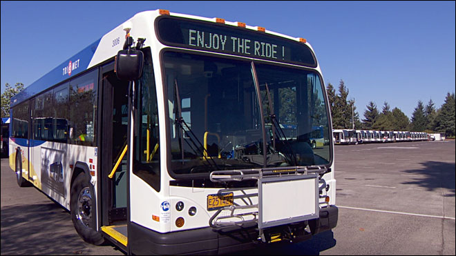 Photo of a TriMet bus