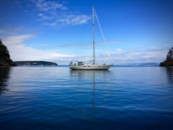 Anchored at Inati Bay, before returning to Bellingham.
